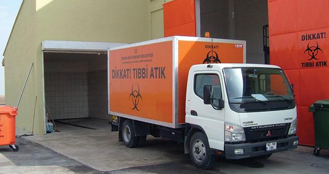 Konya'da günlük 6 ton tıbbı atık bertaraf ediliyor