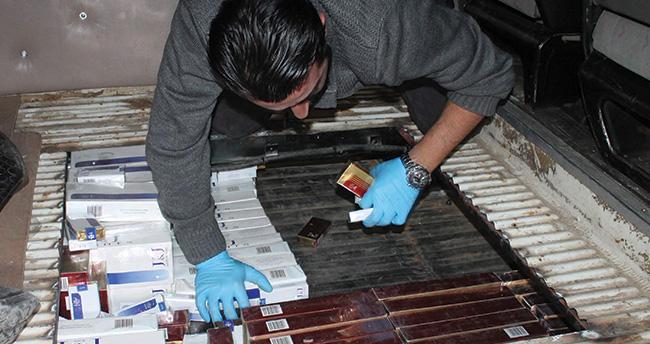 Konya'da minibüsten 6 bin paket kaçak sigara çıktı