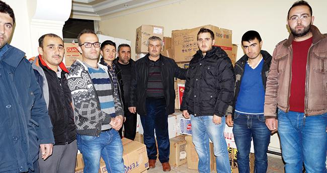 Konya Bozkır'dan 'Bayırbucak Türkmenlerine yardım