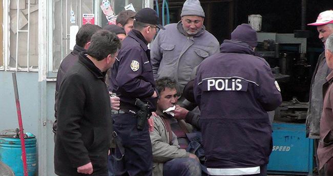 Konya'da bir kişi patlayan kamyon lastiğinden yaralandı