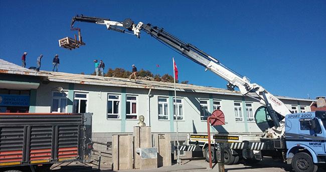 Seydişehir'in Dikilitaş mahallesindeki okulun tadilatı yapıldı