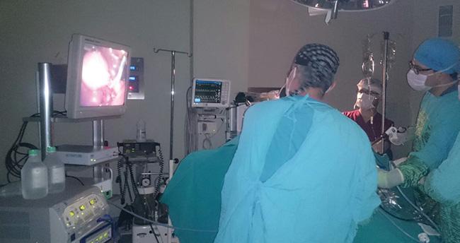 Bozkır'da kapalı yöntemle safra kesesi alınma ameliyatı