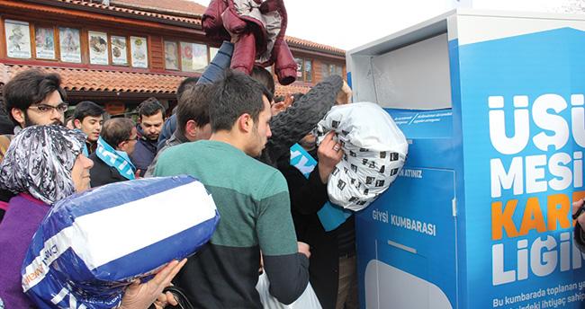Konya'da 'giysi bankası' kuruldu