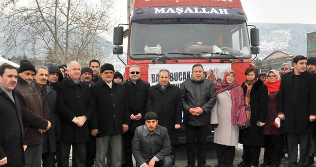 Akşehir Ak Parti'den Bayırbucak'a yardım
