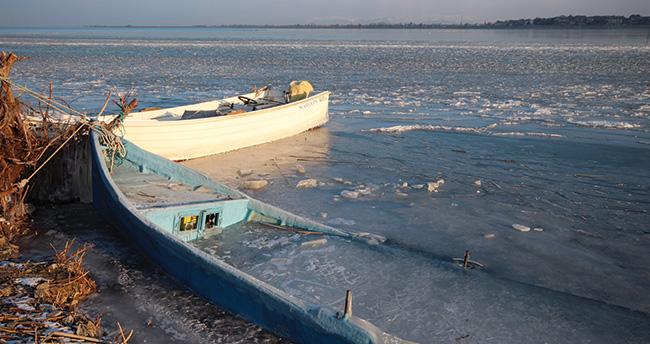 Beyşehir Gölü dondu