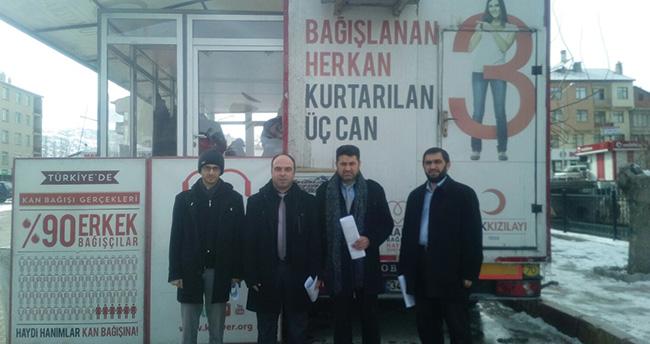 Bozkır'da kan bağış kampanyası