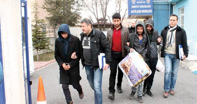 Konya'da hırsızlık şüphelisi adliyeye battaniyesini götürdü