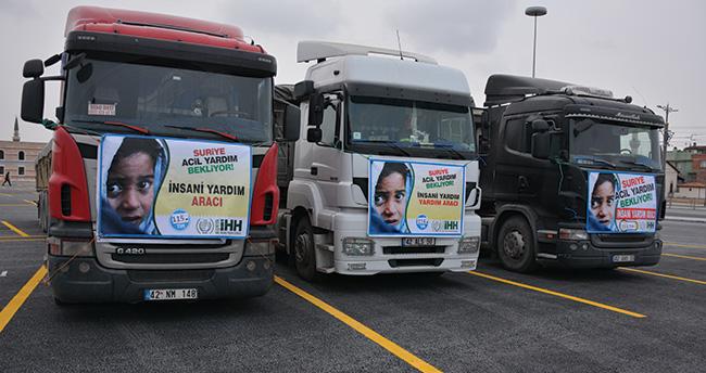 Konya'dan Suriye'ye 78 ton un yardımı