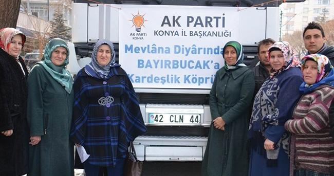 AK Parti Konya'dan Türkmenlere yardım