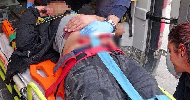 """Aksaray'da bir kişiye """"O Biçimsin"""" dediler kendini bıçakladı"""