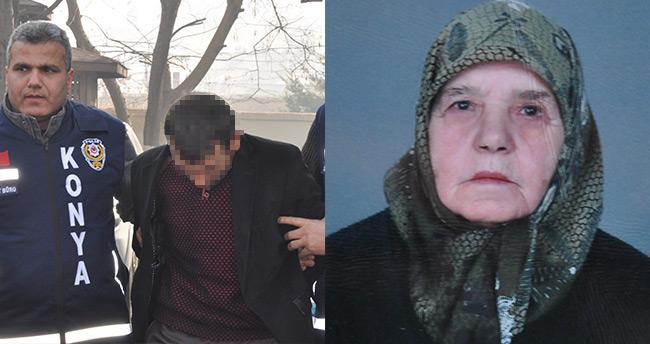 Konya'da yaşlı kadın cinayetinin şüphelisi yakalandı