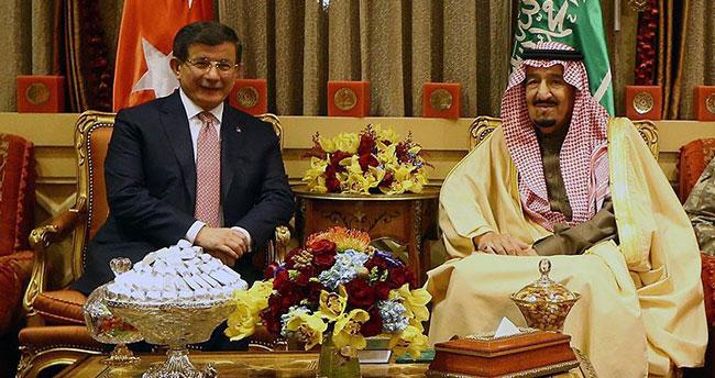 Kral Selman Başbakan Davutoğlu onuruna yemek verdi