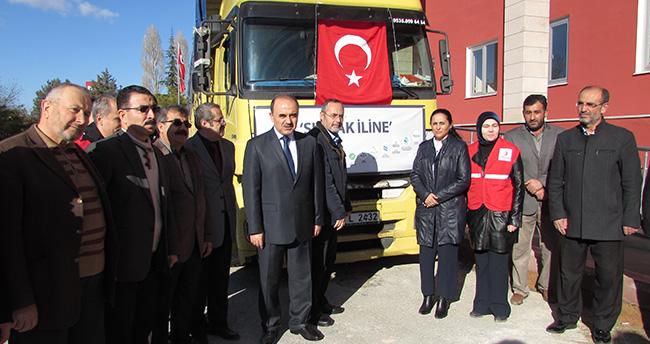 Konya'dan Şırnak'a yardım tırı