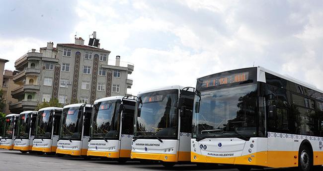 Karaman'da 12 adet halk otobüsü sefere başladı