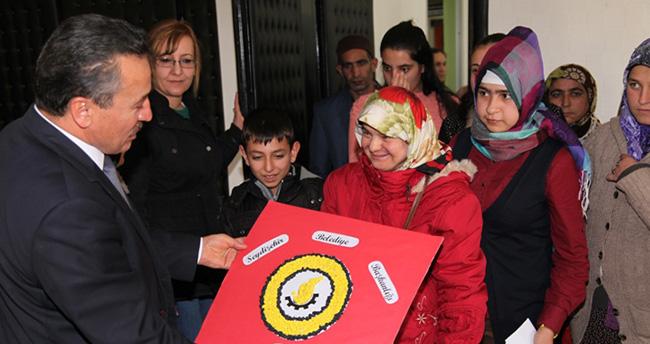 Özel Eğitim Öğrencileri Başkan Tutal'ı ziyaret etti