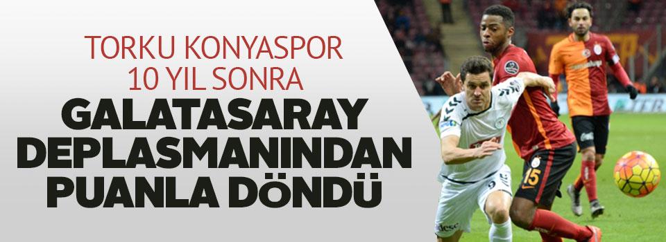 Torku Konyaspor 10 Yıl Sonra Galatasaray Deplasmanından Puanla Döndü