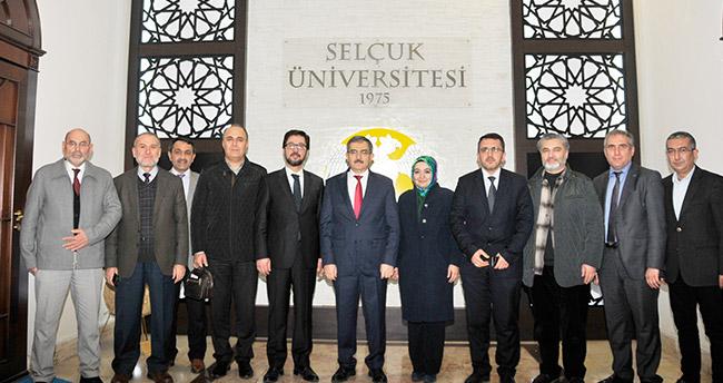 Rektör Mustafa Şahin'e destek