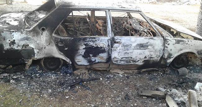 Beyşehir'de yanmış otomobil bulundu