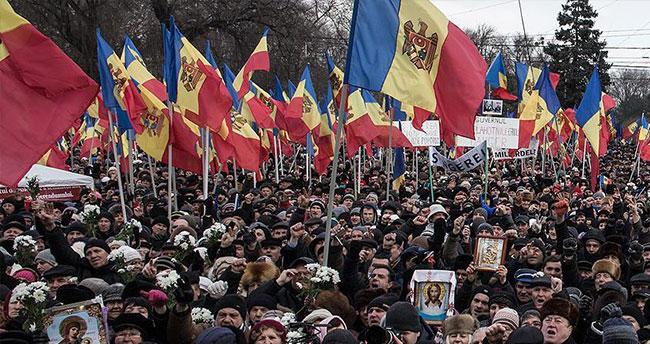 Moldova'da Rus yanlısı muhalefet eylem yaptı