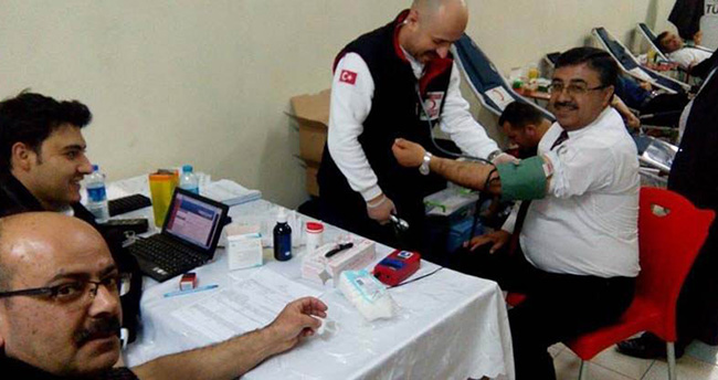 Beyşehir'de kan bağışı kampanyasına yoğun ilgi