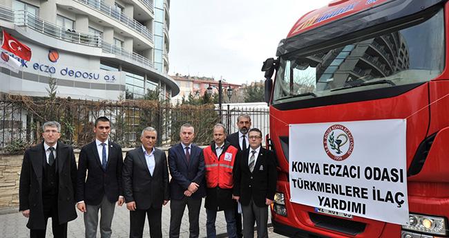 Konya'dan Bayırbucak Türkmenlerine ilaç yardımı