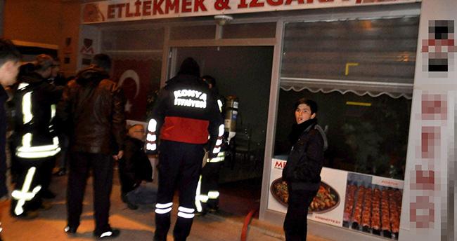 Seydişehir'de bir iş yerinde yangın çıktı