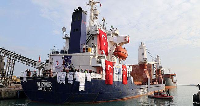 Şefkat gemisi Yemen'e uğurlandı