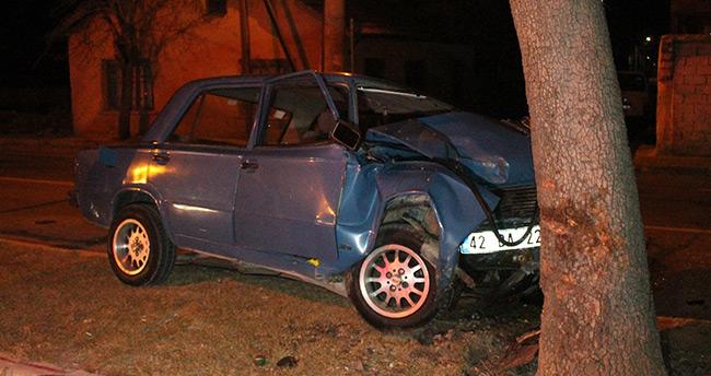 Konya'da ehliyetsiz sürücü kaza yaptı : 1 yaralı