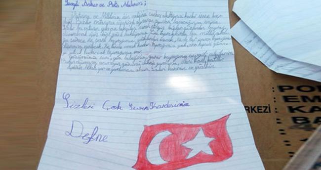 Polis kızından duygusal mektup