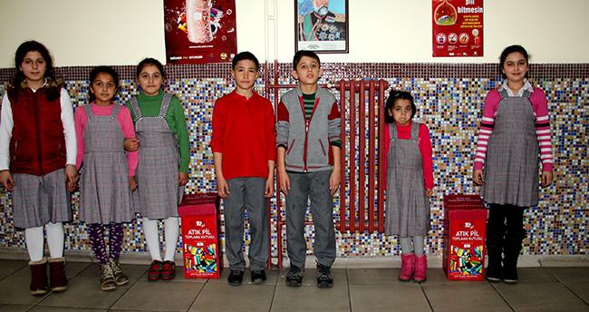 Seydişehir'deki okullarda atık pil toplama kampanyası