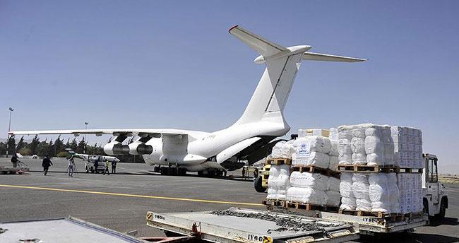BM Suriye'de havadan yardımı Rus uçaklarıyla yapacak