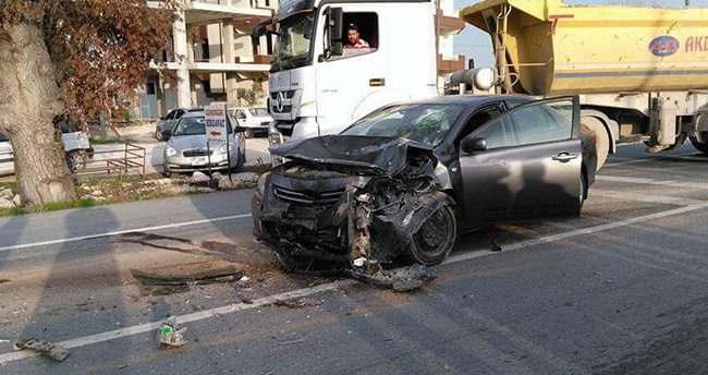 Çumra Ziraat Odası Başkanı kaza yaptı