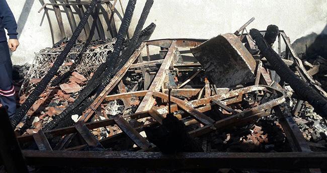 Konya'da garaj yangını