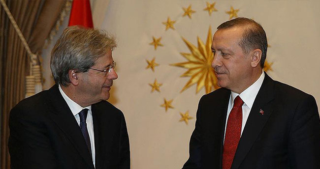 Cumhurbaşkanı Erdoğan İtalyan Dışişleri Bakanı'nı kabul etti