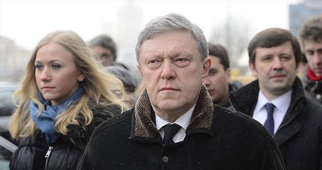 Rusya'da muhalif Yabloko Partisi Yavlinsky'i aday gösterdi