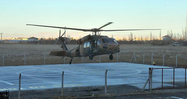 Akşehir're ışıklandırmalı helikopter pisti
