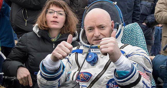 Uzayda bir yıl geçirdiler