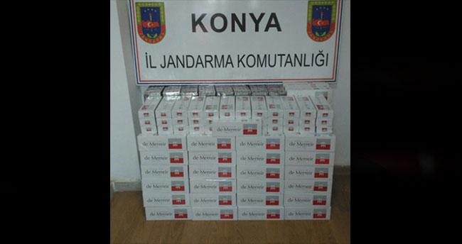 Konya'da sigara kaçakçılığı operasyonu