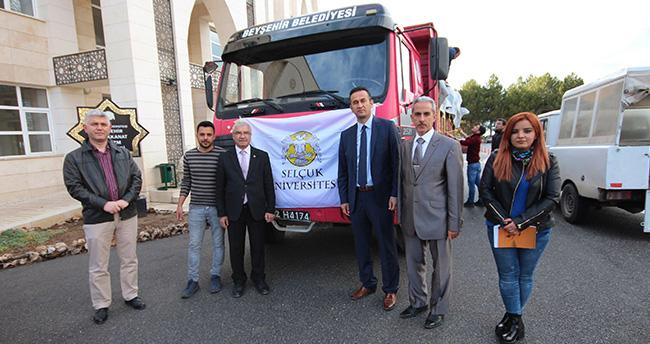 Konyalı öğrencilerden Türkmenlere yardım