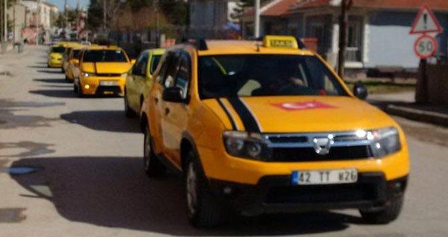 Konya'da cesedi bulunan taksicinin arkadaşları eylem yaptı