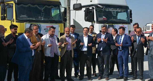 Konya'dan Suriye'ye 2 tır yardım
