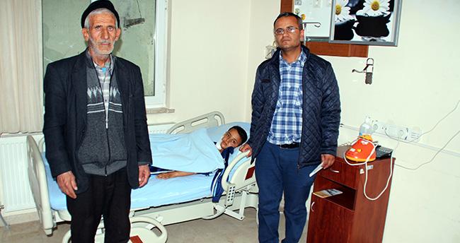 Konya'da bisikletiyle cama çarpan çocuk ölümden döndü