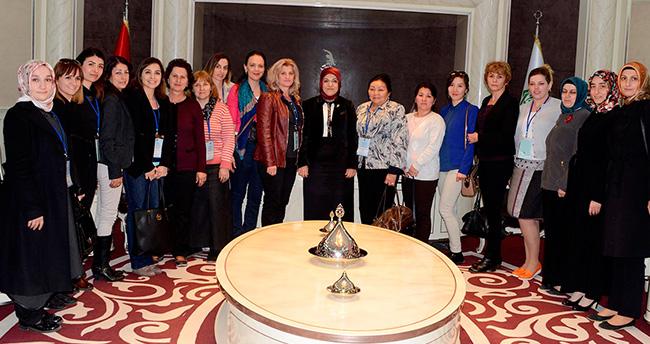 Kadın belediye yetkililere Bacıyan-ı Meram'ı beğendi