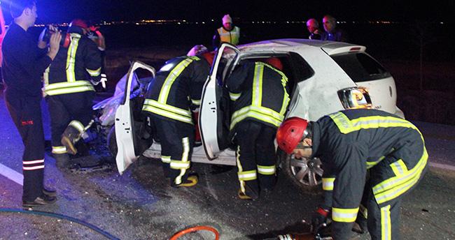 Konya'da polis memuru kazada hayatını kaybetti