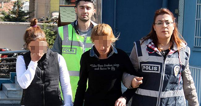 Konya'da kadın hırsızlar önce kameraya sonra polise yakalandı!