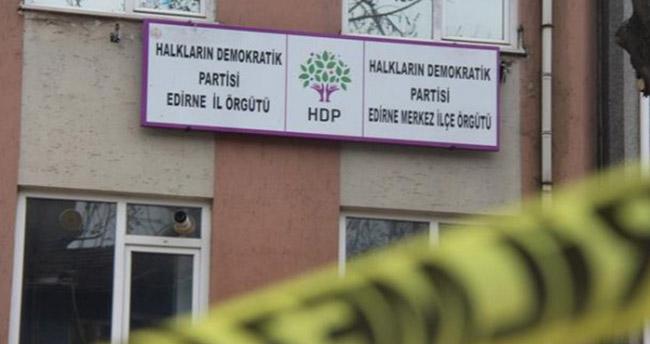 Edirne HDP İl Başkanlığına kurşun yağdırdılar