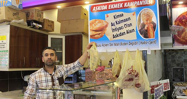 """Konya'da """"askıda ekmek"""" uygulaması"""