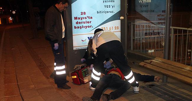 Konya'da otobüs durağında intihar