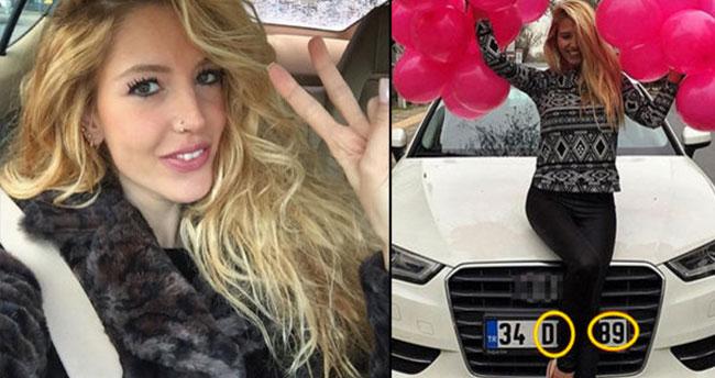 Dilara Öztunç'a doğum gününde otomobil hediye edildi