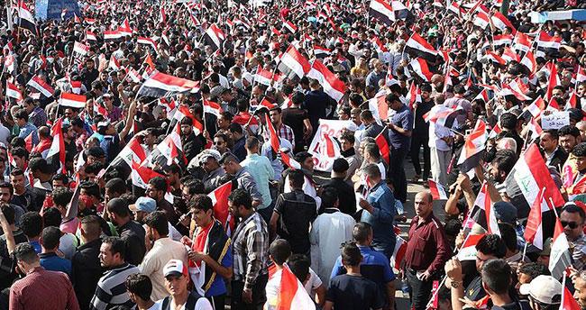 'Eylem sırasında silah taşımayın, Irak bayrağı taşıyın'